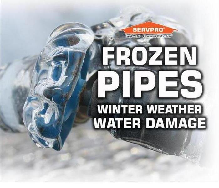 Water Damage Frozen Pipes can lead to Water Damage